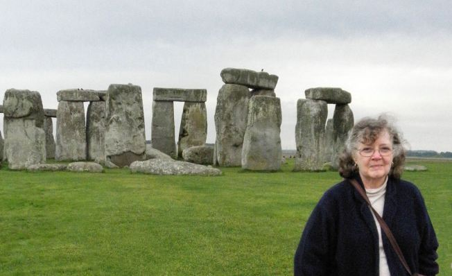PJ at Stonehenge